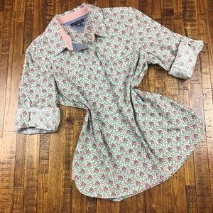 Tommy Hilfiger Button Front Shirt Floral Blouse